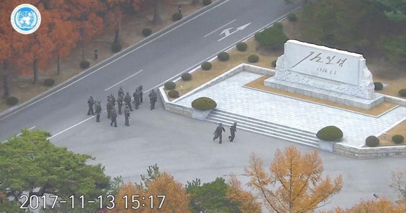 North Korean Soldier's Dramatic Escape Caught on CCTV