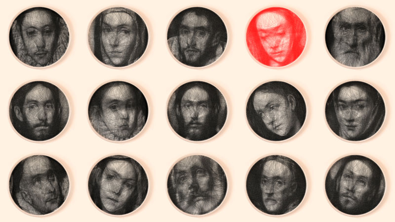 renaissance portraits made from single thread on circular loom 1 Renaissance Portraits Made From Single Thread on Circular Loom