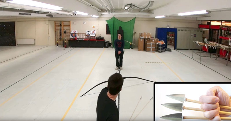 Viral Archer Lars Andersen is Back and Curving Arrows Around People
