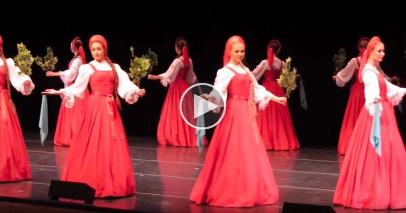 'Berezka', the Hypnotizing Russian Folk Dance Where the Women Seem to Float