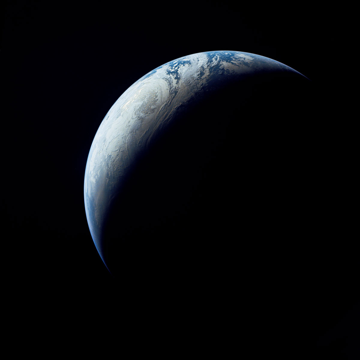 earth crescent nasa Picture of the Day: Earth Crescent, 1967