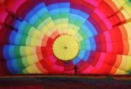 Inflating a Hot Air Balloon in Cappadocia, Turkey