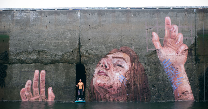 Mural Goes Up and Down with Tide, Will Eventually Fade to Nothing