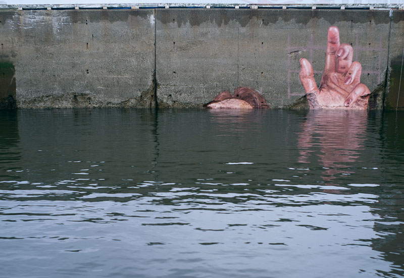 mural goes up and down with tide saint john new brunswick canada bay of fundy by hula 13 Mural Goes Up and Down with Tide, Will Eventually Fade to Nothing