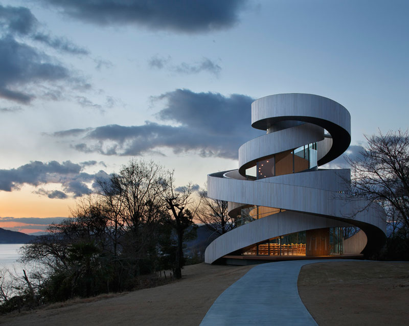 ribbon chapel by hiroshi nakamura and nap architects 2 This Award Winning, Ribbon Wedding Chapel in Japan is Breathtaking