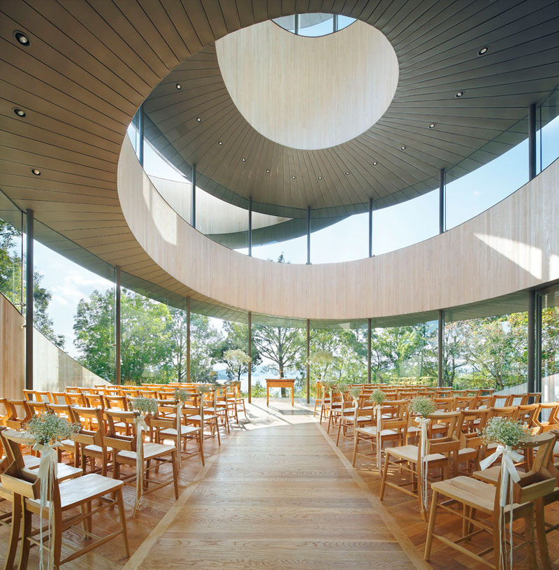 ribbon chapel by hiroshi nakamura and nap architects 6 This Award Winning, Ribbon Wedding Chapel in Japan is Breathtaking