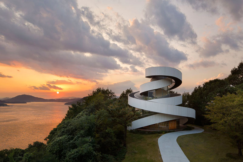 ribbon chapel by hiroshi nakamura and nap architects 9 This Award Winning, Ribbon Wedding Chapel in Japan is Breathtaking