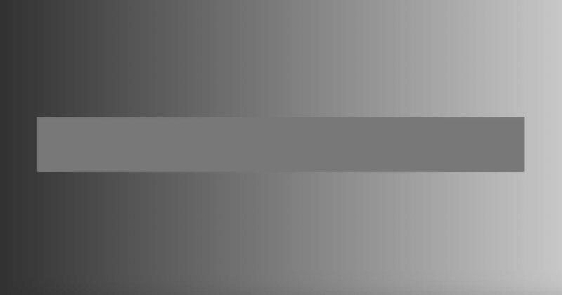 This Horizontal Bar is a Single Shade of Gray