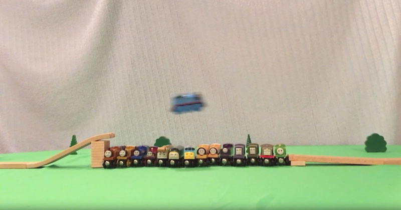 These Guys Pushed a Thomas the Tank Engine Train Set to the Limits