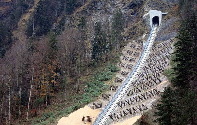 worlds steepest cliff railway opens in switzerland 12 The Worlds Steepest Cliff Railway Just Opened in the Swiss Alps