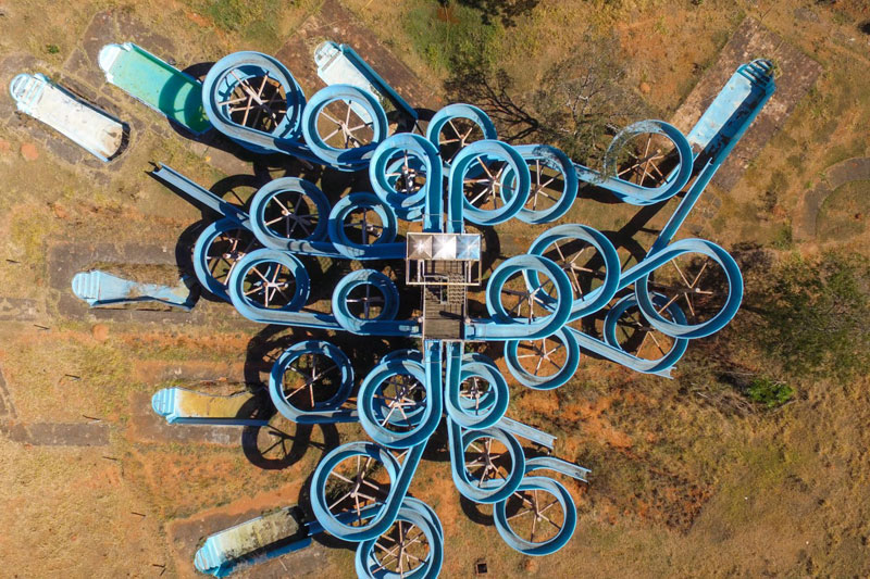 abandoned water park from above by la do alto An Abandoned Water Park from Above
