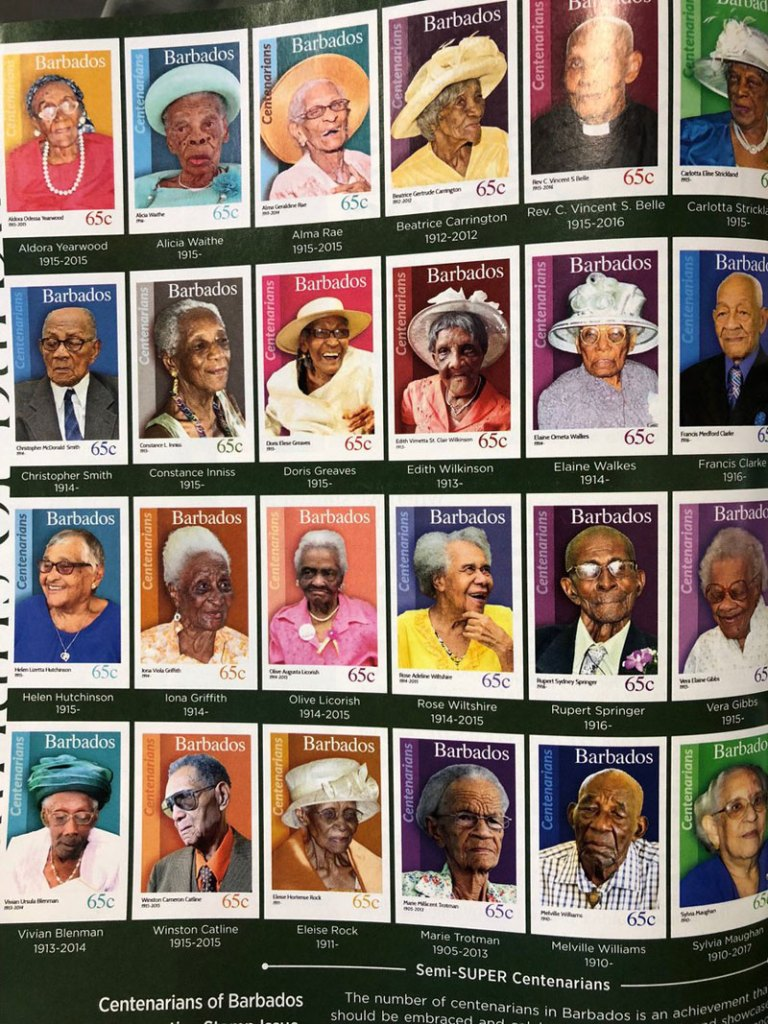 People That Live to 100 in Barbados Get Their Own Stamp and that's Awesome