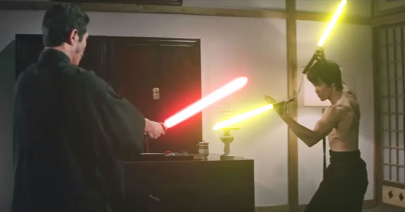 Thank You Kind Internet Stranger for Adding Lightsabers to this Bruce Lee Fight Scene