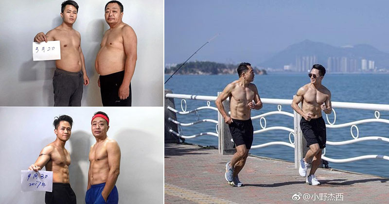 Father and Son Decide to Get in Shape Together (9 Pics)