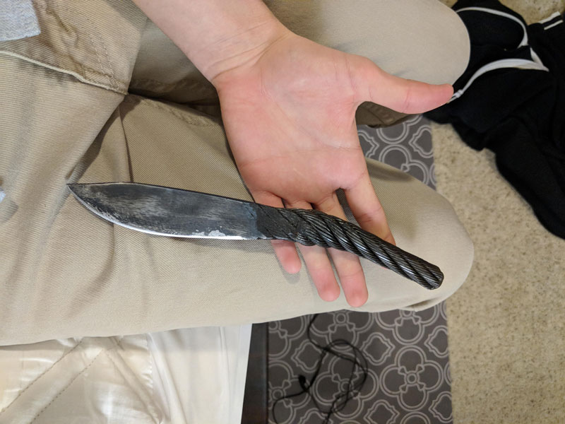 Knife Made of Cable from the Golden Gate Bridge