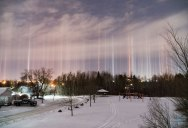 Amazing Light Pillars Spotted Over Moncton, New Brunswick, Canada
