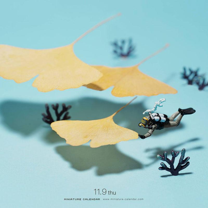 miniature calendar by tatsuya tanaka 1 This Artist Has Created a Miniature Scene Every Single Day Since 2011