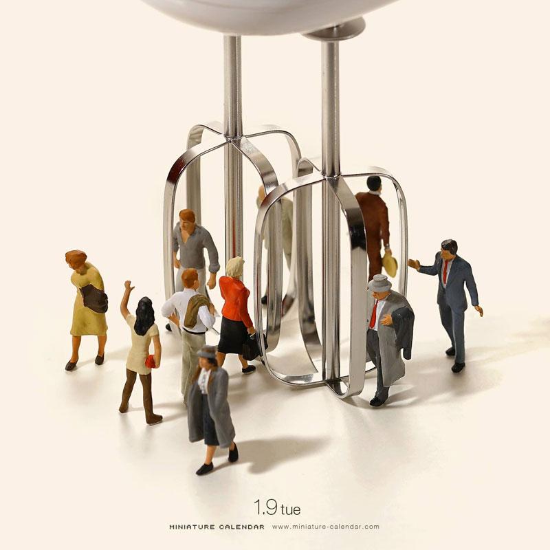 miniature calendar by tatsuya tanaka 14 This Artist Has Created a Miniature Scene Every Single Day Since 2011