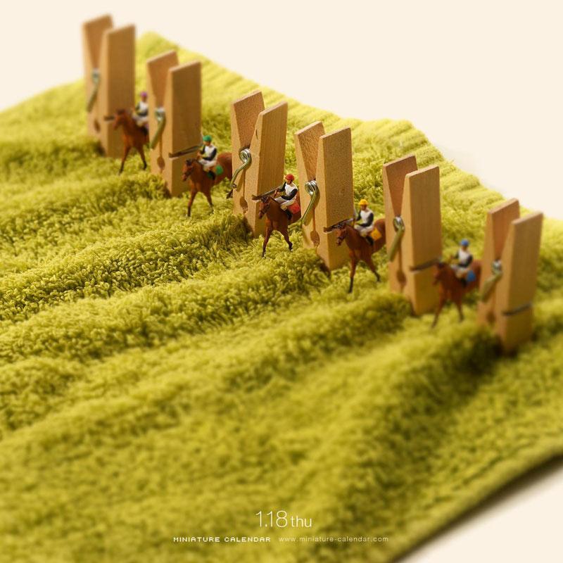 miniature calendar by tatsuya tanaka 23 This Artist Has Created a Miniature Scene Every Single Day Since 2011