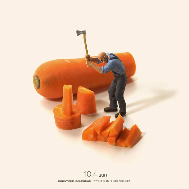 miniature calendar by tatsuya tanaka 27 This Artist Has Created a Miniature Scene Every Single Day Since 2011