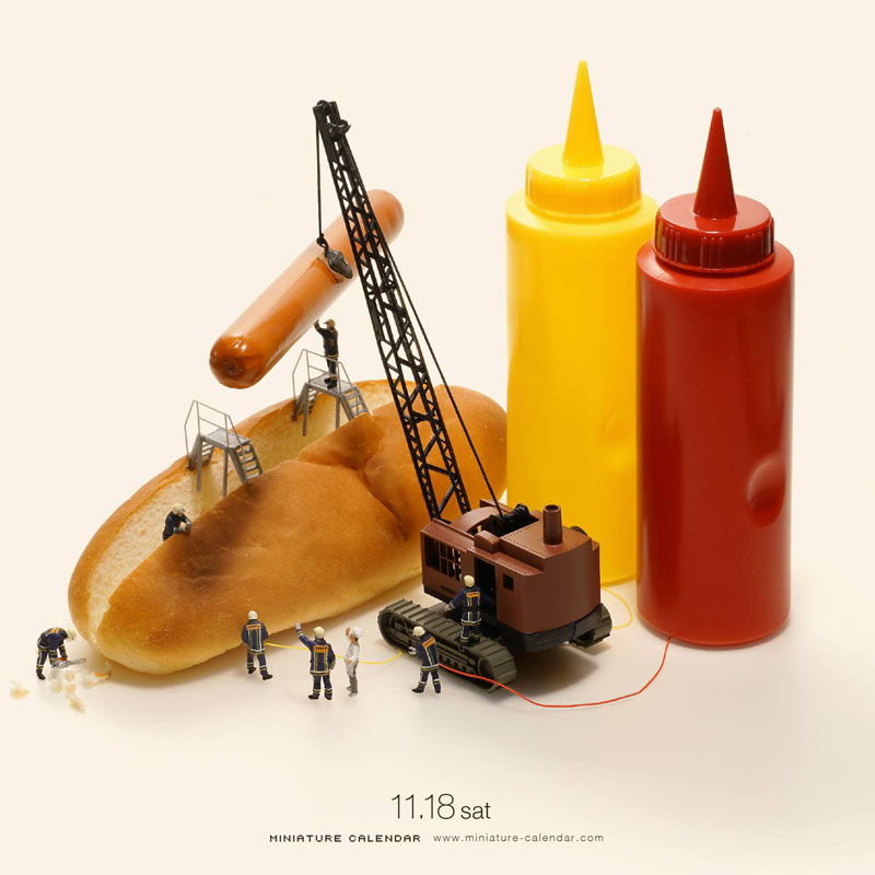 miniature calendar by tatsuya tanaka 6 This Artist Has Created a Miniature Scene Every Single Day Since 2011