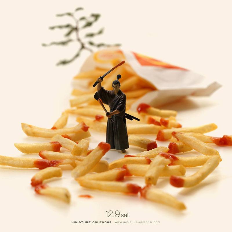 miniature calendar by tatsuya tanaka 8 This Artist Has Created a Miniature Scene Every Single Day Since 2011