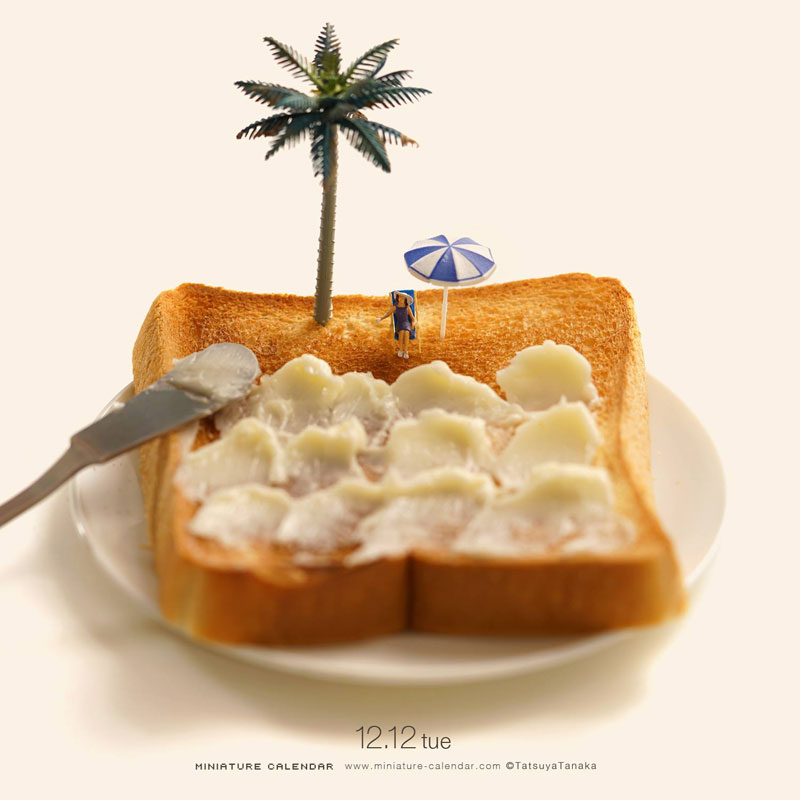 miniature calendar by tatsuya tanaka 9 This Artist Has Created a Miniature Scene Every Single Day Since 2011