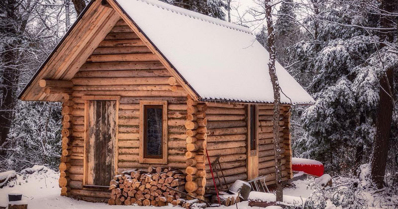 One Man Log Cabin Timelapse