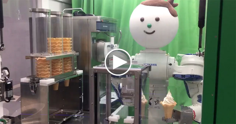 This Robot Vending Machine Will Serve You Ice Cream for 100 Yen