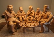 Artist Recreates People from Grandparents Village as Life-Size Cardboard Sculptures