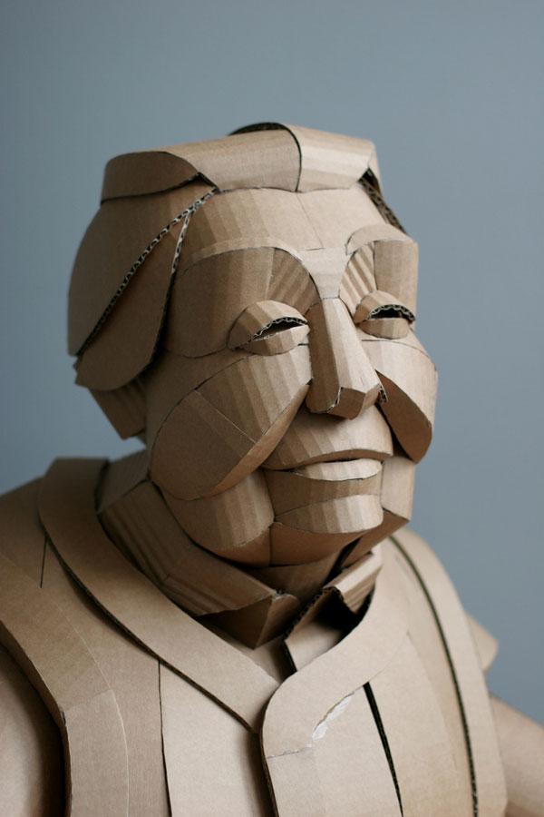 warren king cardboard sculptures 3 Artist Recreates People from Grandparents Village as Life Size Cardboard Sculptures