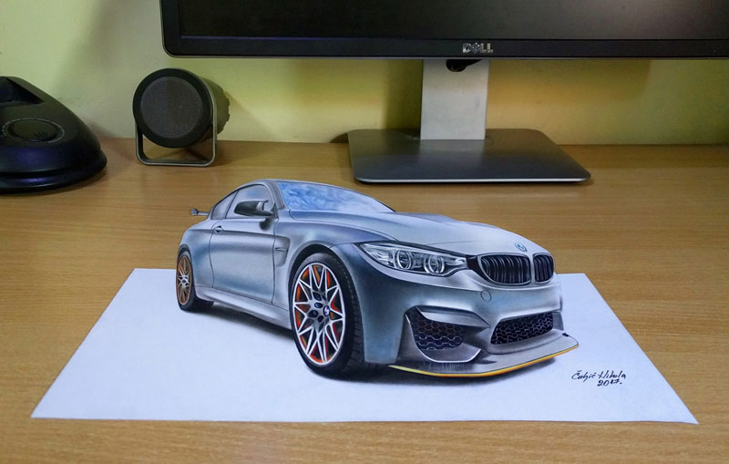3d drawings by nikola culjiic 4 Amazing 3D Drawings that Seem to Leap Off the Page