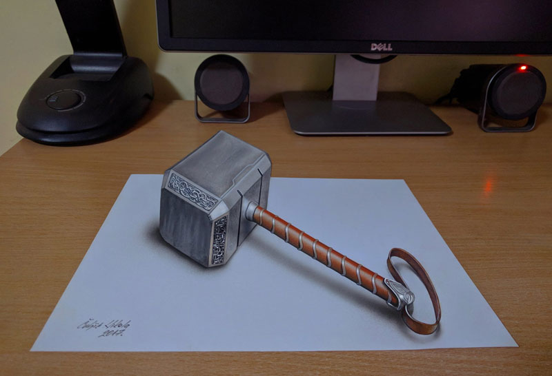 3d drawings by nikola culjiic 5 Amazing 3D Drawings that Seem to Leap Off the Page