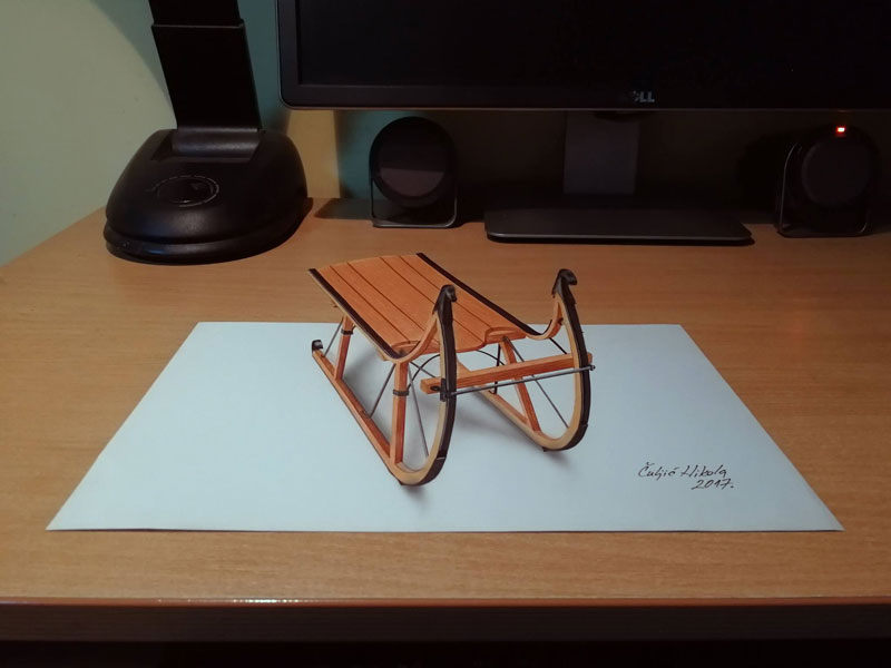 3d drawings by nikola culjiic 6 Amazing 3D Drawings that Seem to Leap Off the Page