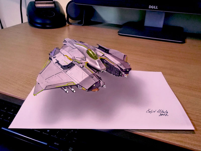3d drawings by nikola culjiic 8 Amazing 3D Drawings that Seem to Leap Off the Page