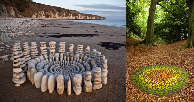 Artist Arranges Natural Objects Into Ephemeral Patterns and Designs