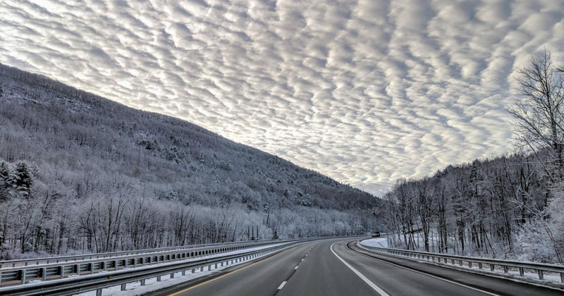 Amazing Clouds on the I-90 in the Berkshire Mountains, MA