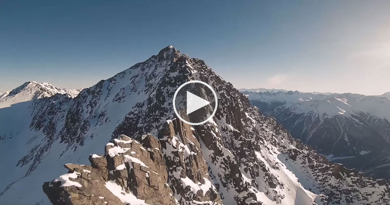 If You Were Superman Flying Through the Alps it Would Look Something Like This