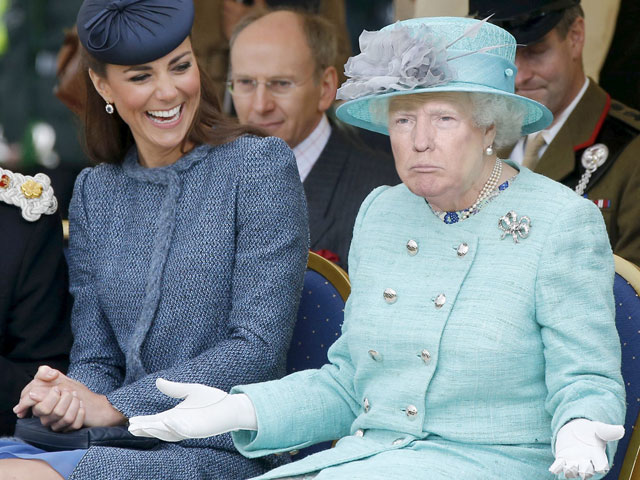 photoshopping trumps face onto the queens 18 This Woman Cant Stop Photoshopping Trumps Face Onto the Queens (Top 50)