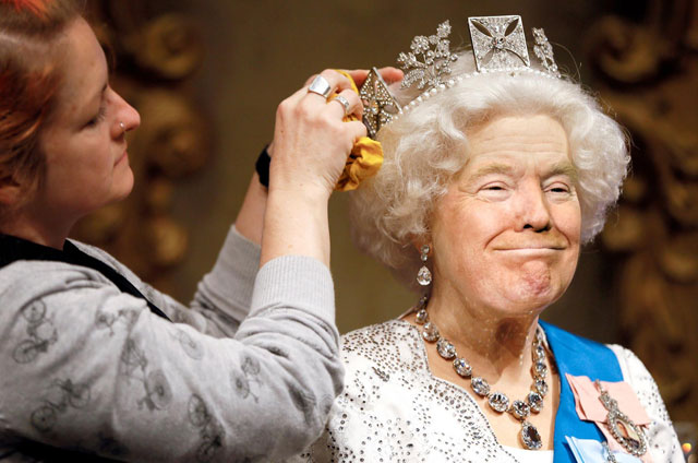 photoshopping trumps face onto the queens 23 This Woman Cant Stop Photoshopping Trumps Face Onto the Queens (Top 50)