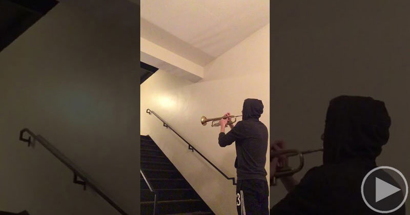 The Star Wars 'Force Theme' in a Stairwell with Awesome Reverb
