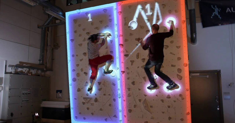 This Augmented Climbing Wall Lets You Play Pong Against Your Friends
