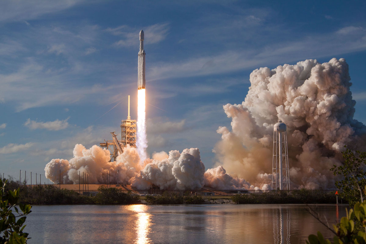 spacex falcon heavy launch tesla to mars 6 SpaceX Just Launched the Worlds Most Powerful Rocket and Sent a Tesla to Mars