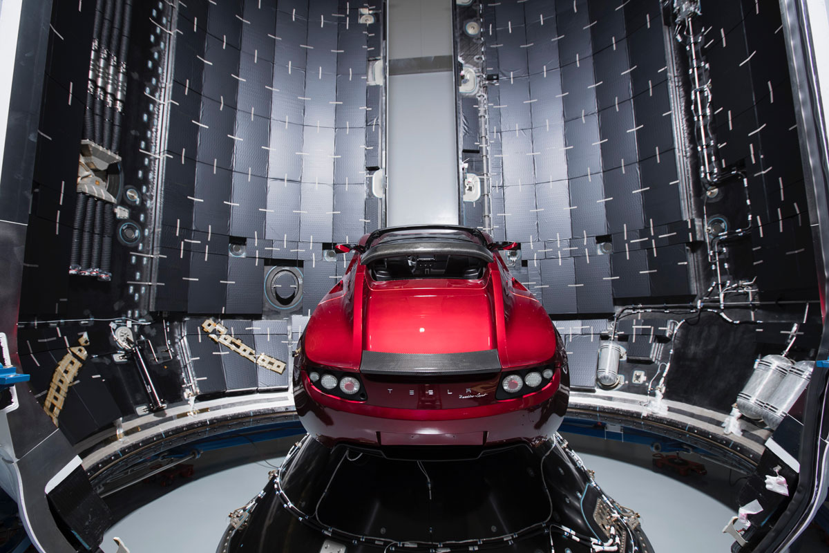 spacex falcon heavy launch tesla to mars 9 SpaceX Just Launched the Worlds Most Powerful Rocket and Sent a Tesla to Mars