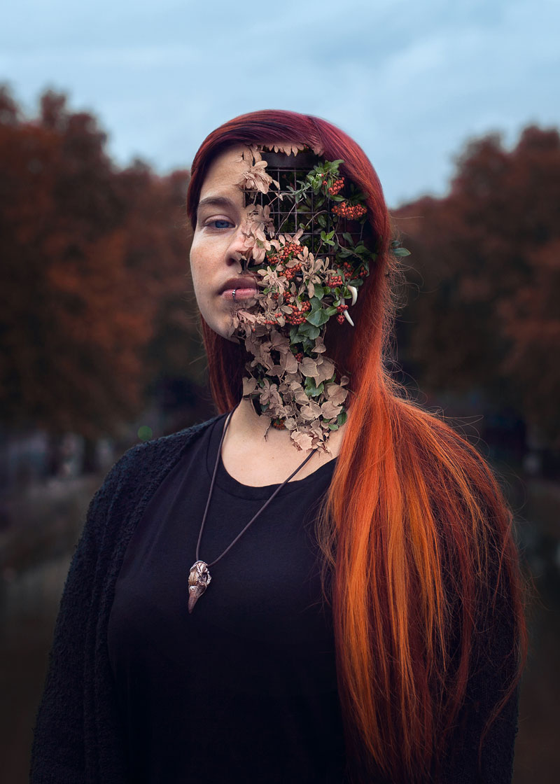 treebeard by cal redback 5 7 Surreal Portraits of Plants Taking Over Faces