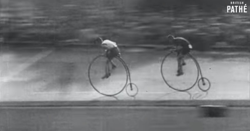 Amazing Footage from 1928 of a Penny Farthing (Boneshaker) Race