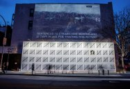 New Banksy's Appear in NYC, Including Giant Mural of Imprisoned Artist