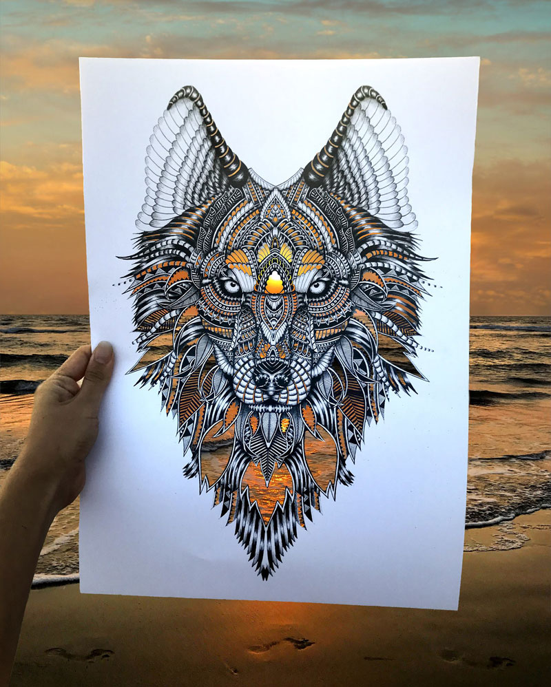faye halliday cutouts filled in by nature 5 Artist Makes Intricate Animal Cutouts and Lets Nature Fill in the Rest