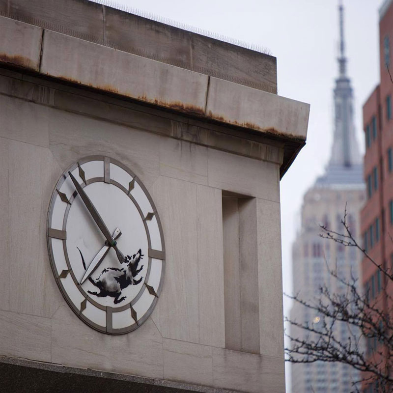 new banksy works in new york city 2018 2 New Banksys Appear in NYC, Including Giant Mural of Imprisoned Artist