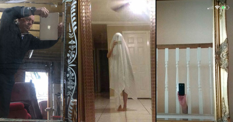 21 Pictures of People Trying to Take Photos of Mirrors They're Selling